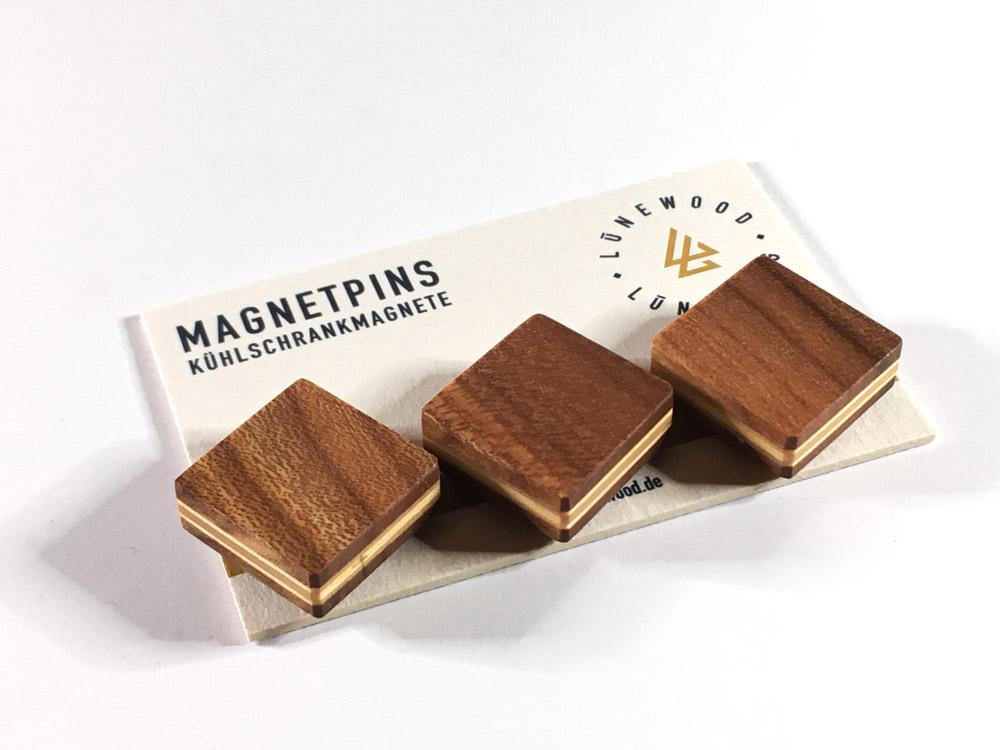 Magnetpin, quadratisch (Ulme, Rüster)